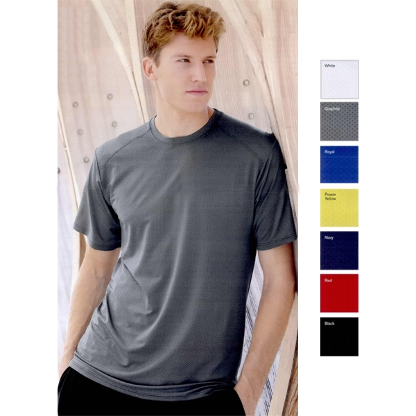 Augusta Sportswear (r) Exa - S- X L - Pinhole Mesh Short Sleeve T-shirt With Moisture Management Performance. Blank Photo