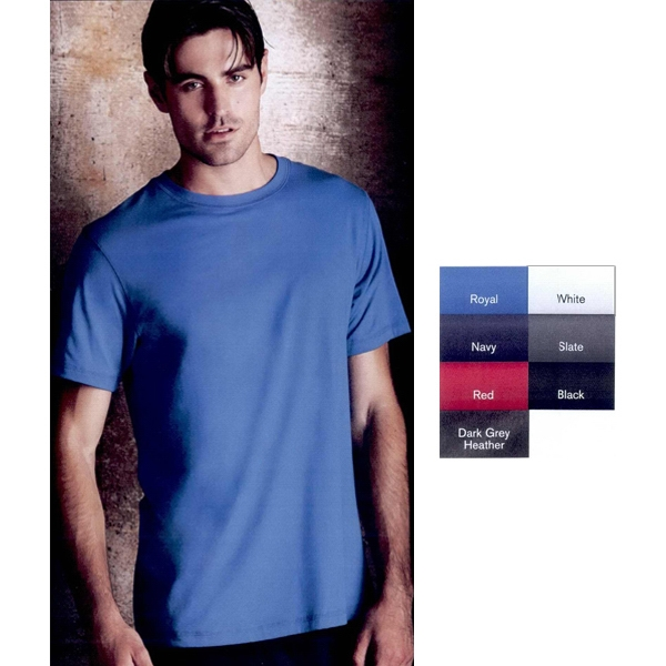 Alo (r) -  X S- X L - Super Soft Dri-blend T-shirt. 52% Polyester Microfiber/48% Combed Cotton. Blank Photo