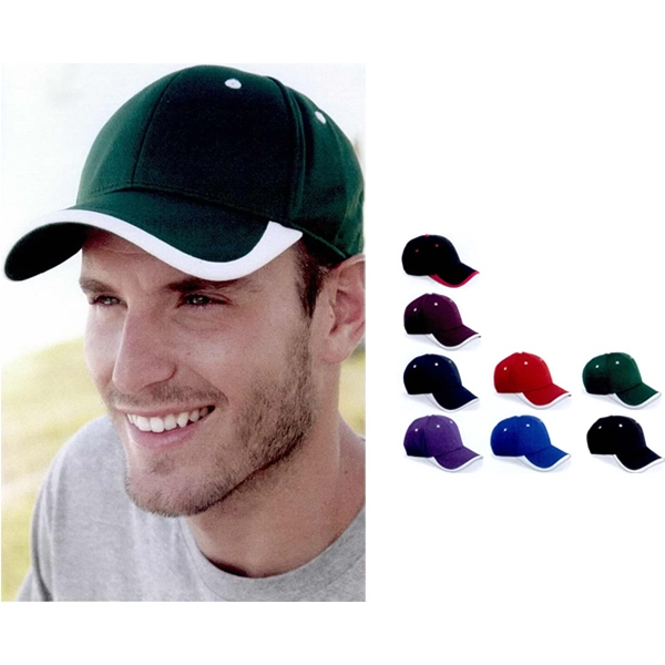 Oc Sports - Bamboo Baseball Cap With Visor Accent In 100% Polyester. Blank Photo