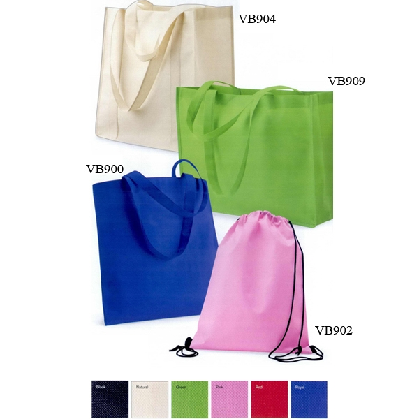 Valubag (tm) - Non-woven Drawstring Backpack. Blank Photo