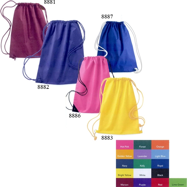 Liberty Bags (r) - Large Drawstring Pack It In And Keep It Secure In This Bag. Blank Product Photo