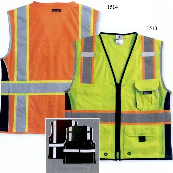 Ml Kishigo - M - Lime Class 2 Vest With Reflective Trim. Blank Product Photo