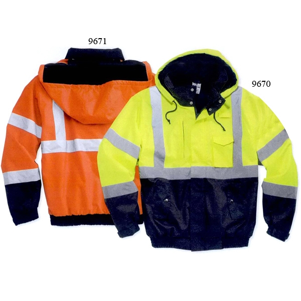 Ml Kishigo - Orange-black - 2 X L-5 X L - Hi-vis Jacket With Left Chest Radio Pocket. Blank Product Photo