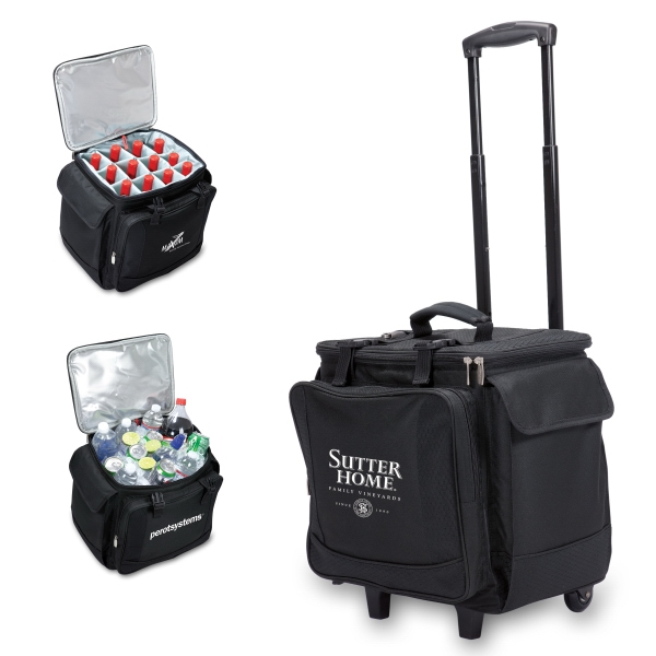 Bodega - Insulated Twelve-bottle Wine Tote/cooler On Trolley & Removable Divider Photo