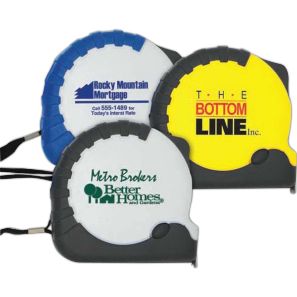 Construction-pro - Automatic 10' Tape Measure With Nickel-plated Belt Clip And Inch/metric Scale Photo