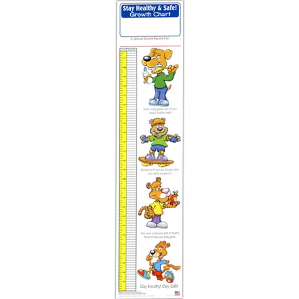 Stay Healthy And Safe Growth Chart Photo