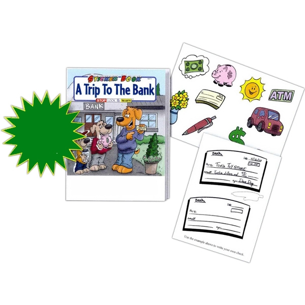 A Trip To The Bank Sticker And Coloring Activity Book Fun Pack With 4-pack Crayons Photo