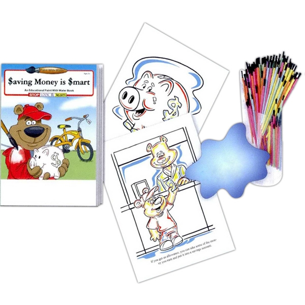 Saving Money Is Smart Paint With Water Book Fun Pack With Paint Brush Photo