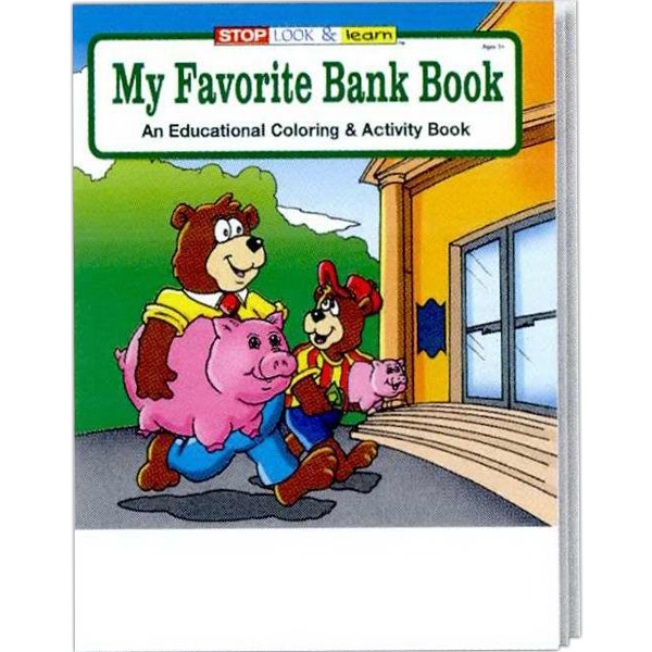 My Favorite Bank Coloring/activity Book Fun Pack With 4-pack Of Unimprinted Crayons Photo