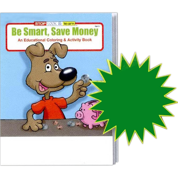 Be Smart, Save Money Coloring And Activity Book Fun Pack With Unimprinted Crayons Photo