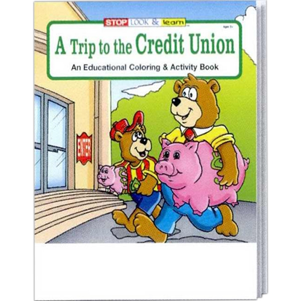 A Trip To The Credit Union Coloring/activity Book Fun Pack With Unimprinted Crayons Photo