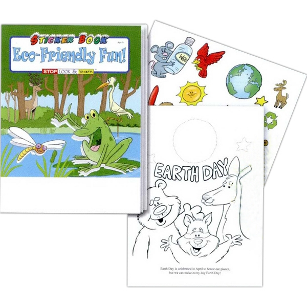 Eco-friendly Fun Sticker And Coloring Activity Book Photo