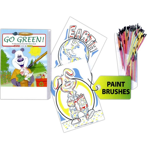 Go Green! Paint With Water Book, Requires Only A Little Bit Of Water Photo
