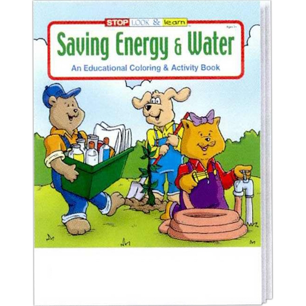 Saving Energy And Water Coloring/activity Book Fun Pack With Unimprinted Crayons Photo