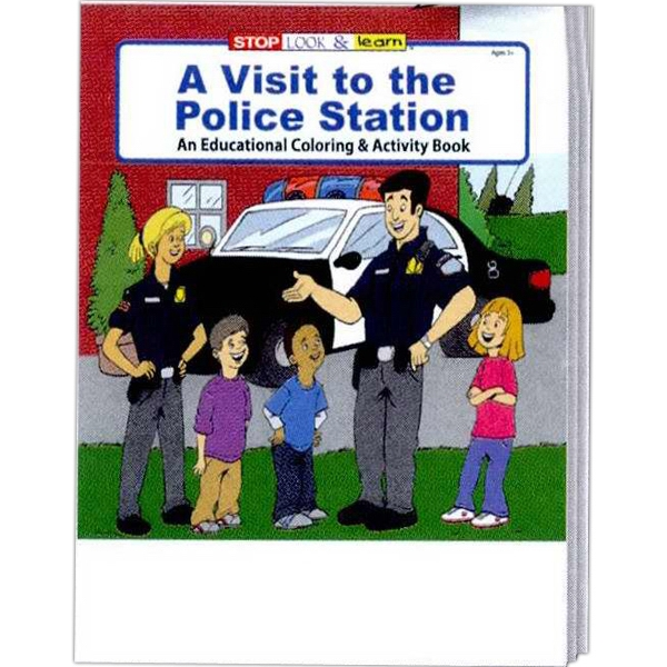 A Visit To The Police Station Educational Coloring And Activity Book Photo
