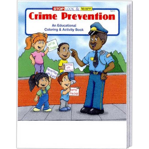 Crime Prevention Educational Coloring And Activity Book Fun Pack, 4-pack Of Crayons Photo