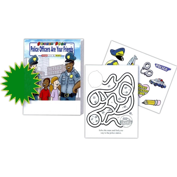 Police Officers Are Your Friends Sticker, Coloring And Activity Book Photo