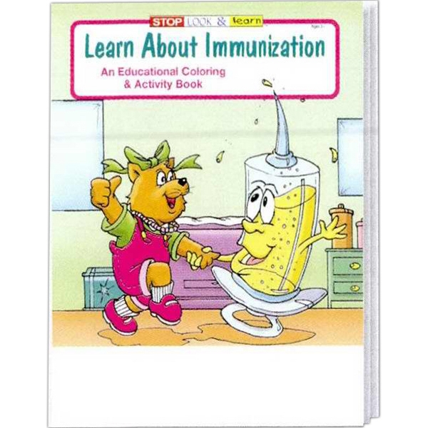 Learn About Immunization Educational Coloring And Activity Book Photo