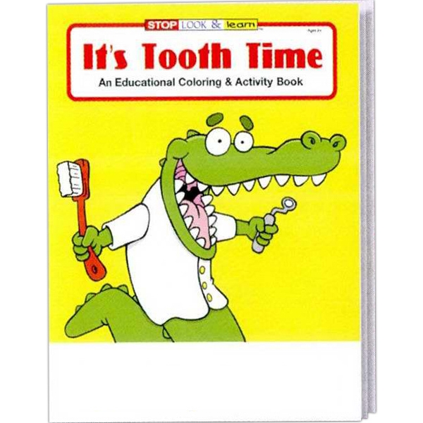 It's Tooth Time Coloring And Activity Book Fun Pack With 4-pack Of Crayons Photo