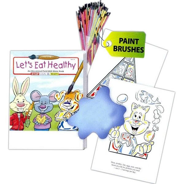 Let's Eat Healthy Paint With Water Book Photo