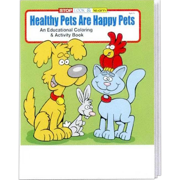 Healthy Pets Are Happy Pets Educational Coloring And Activity Book Photo