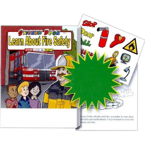 Learn About Fire Safety Sticker And Coloring Activity Book Photo