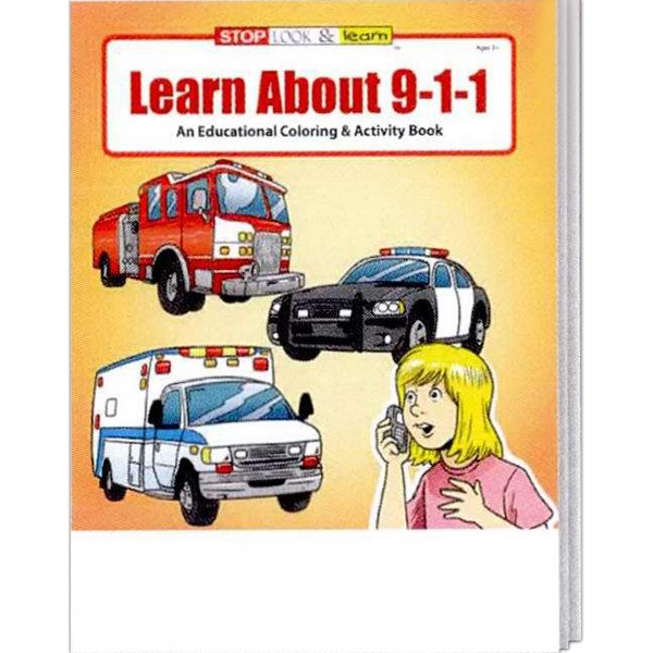 Learn About 9-1-1 Educational Coloring And Activity Book Photo