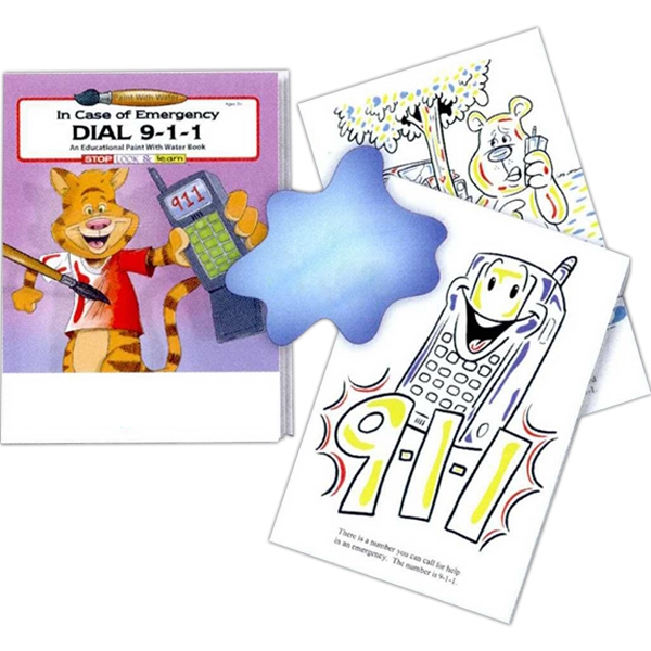 Dial 9-1-1 Educational Paint With Water Book Photo