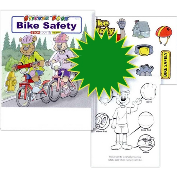 Bike Safety Sticker And Coloring Activity Book Photo