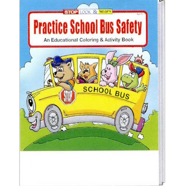 Practice School Bus Safety Educational Coloring And Activity Book Photo