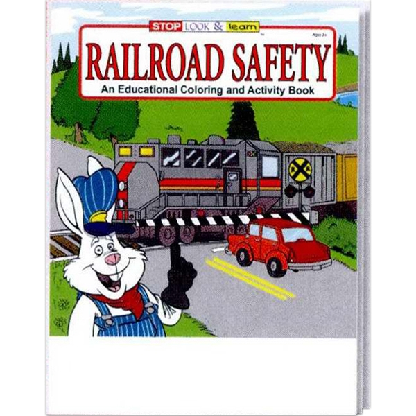 Railroad Safety Educational Coloring And Activity Book Photo