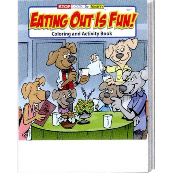 Eating Out Is Fun Coloring And Activity Book Photo