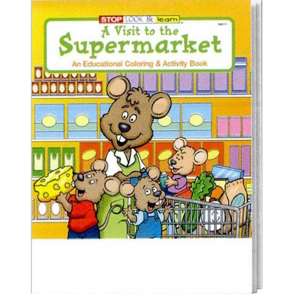A Visit To The Supermarket Educational Coloring And Activity Book Photo