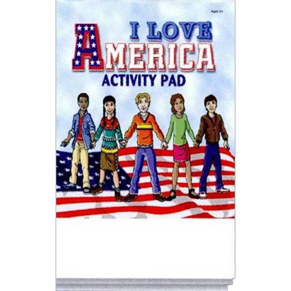 I Love America Activity Pad Fun Pack With A 4-pack Of Unimprinted Crayons Photo