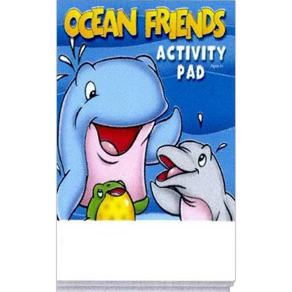 Ocean Friends Activity Pad With 16 Pages And A Full Color Cover Photo