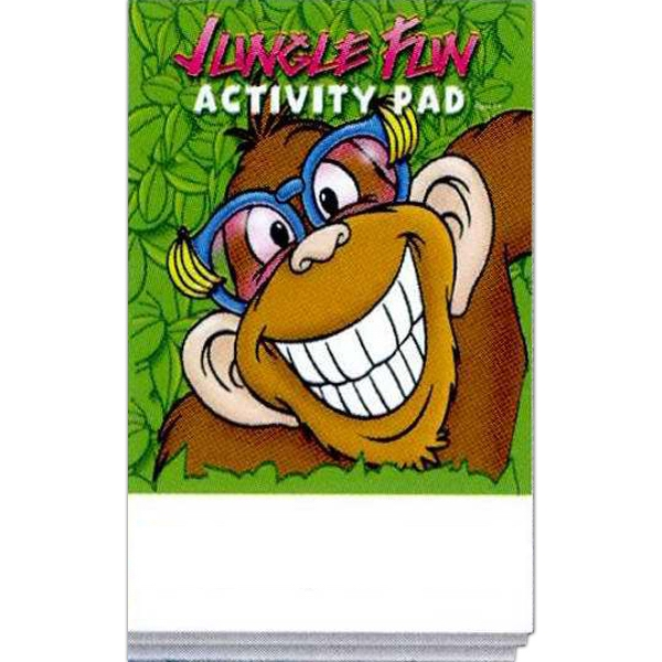 Jungle Fun Activity Pad Fun Pack With A 4-pack Of Unimprinted Crayons Photo