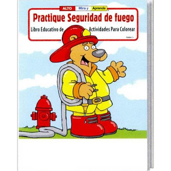 Practice Fire Safety Spanish Coloring And Activity Book Photo