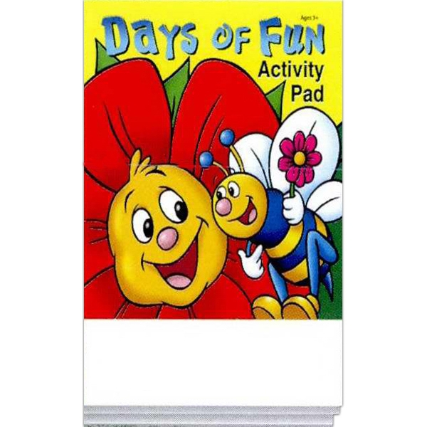 Days Of Fun Activity Pad Fun Pack With 4-pack Of Unimprinted Crayons Photo