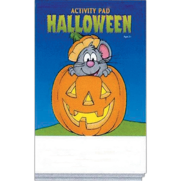 Halloween Activity Pad With 16 Pages And Full Color Cover Photo
