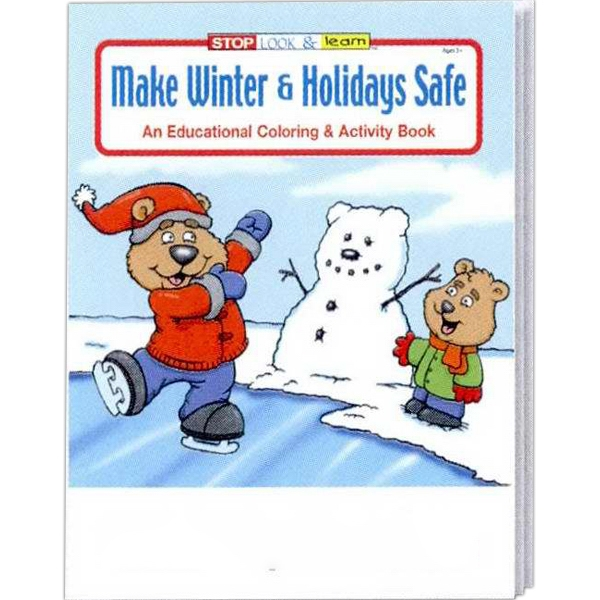 Make Winter & Holidays Safe Coloring And Activity Book Photo