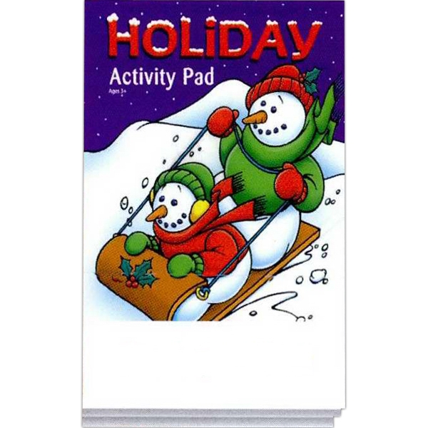 Holiday Activity Pad Fun Pack And A 4-pack Of Unimprinted Crayons Photo