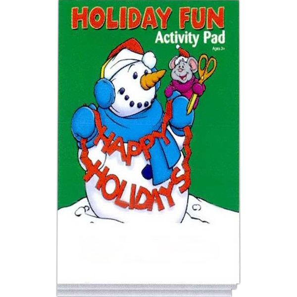 Holiday Fun Activity Pad Fun Pack With A 4-pack Of Unimprinted Crayons Photo