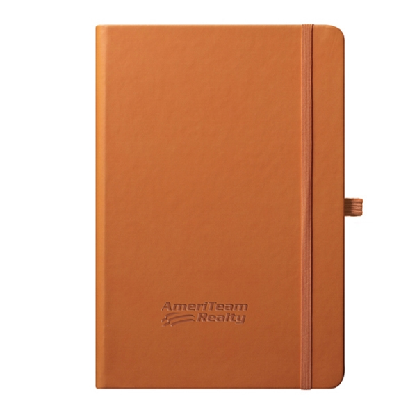 Cool - Journal - Orange. The Thinker's Journal. Simple. Smooth. Easy To Carry Photo