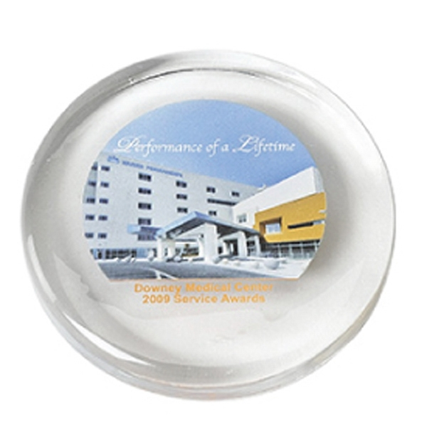 Round - Glass Paperweight Photo