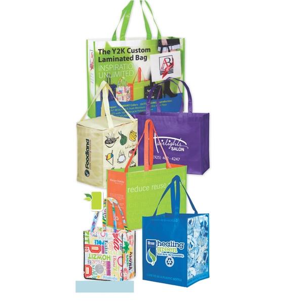 Custom Design Laminated Tote & Grocery Bags