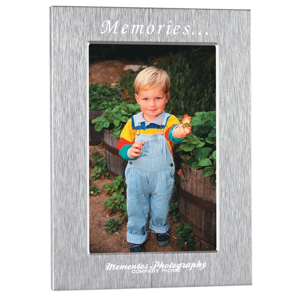 "Silver Photo Frame, 6 1/2"" X 8 1/2"", Holds 5"" X 7"" Photo Photo"