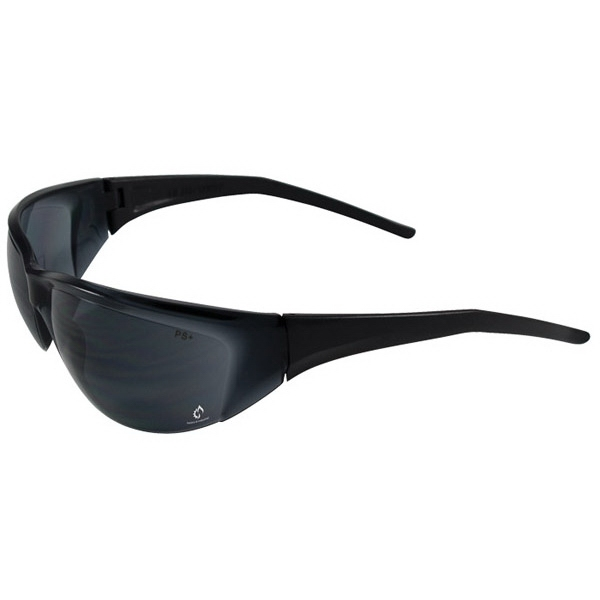 Tranzmission - Gray Lens - Safety Glasses With Single Curved Lens Design Photo