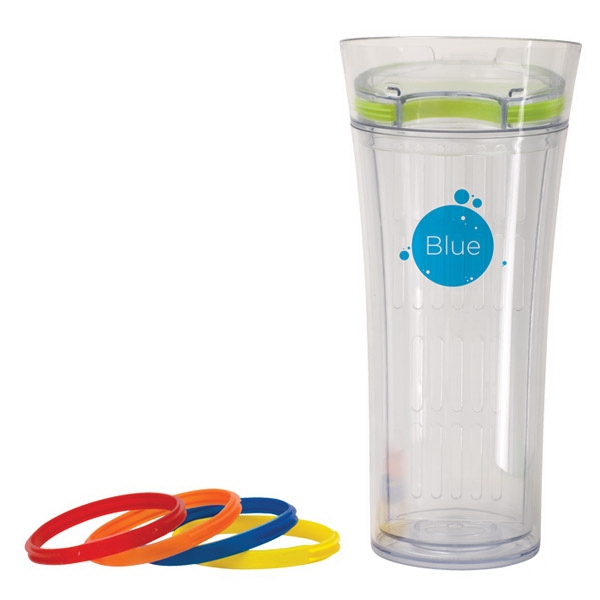 Infusion (tm) - Tumbler With 5 Interchangeable Silicon Bands To Add A Splash Of Color, 16 Oz Photo