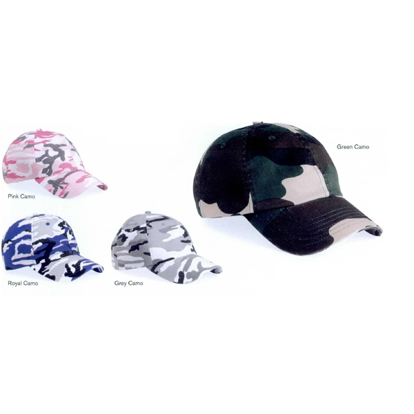 Valucap (tm) - Adult Camouflage Bio-washed Unstructured Cap. Blank Product Photo