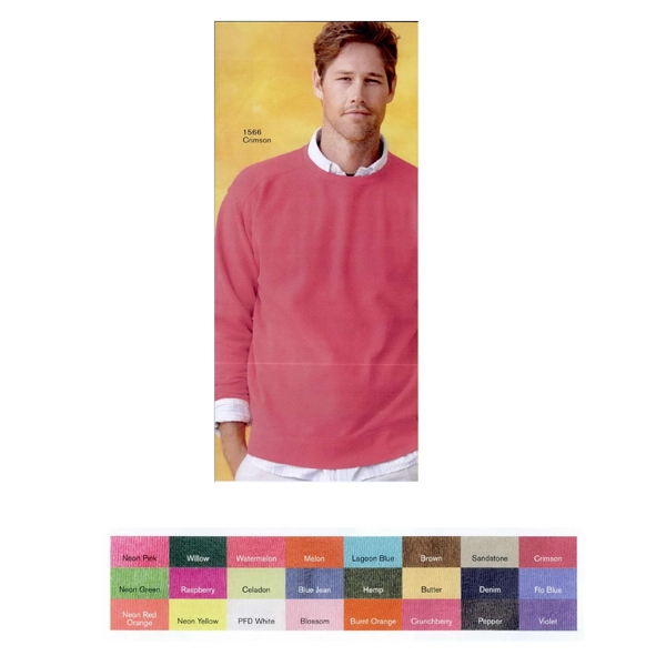 Comfort Colors - S- X L - Adult Pigment Dyed Crewneck Sweatshirt. Blank Product Photo